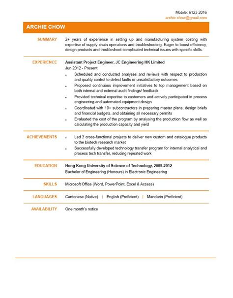 Assistant Project Engineer Cover Letter by Assistant Project Engineer Cv Ctgoodjobs Powered By Career Times