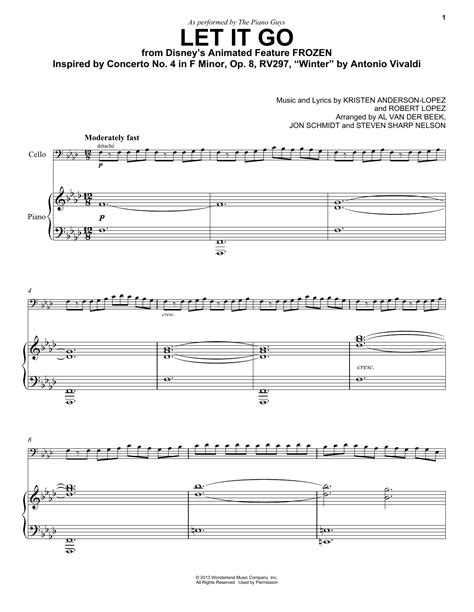 free printable sheet music let it go let it go from frozen sheet music direct