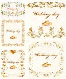 gilded wedding invitation vector vector graphics