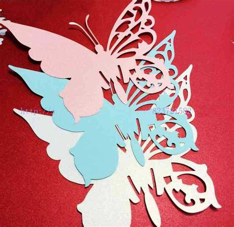 butterfly place cards for wine glasses template laser cut paper butterfly place cards wedding