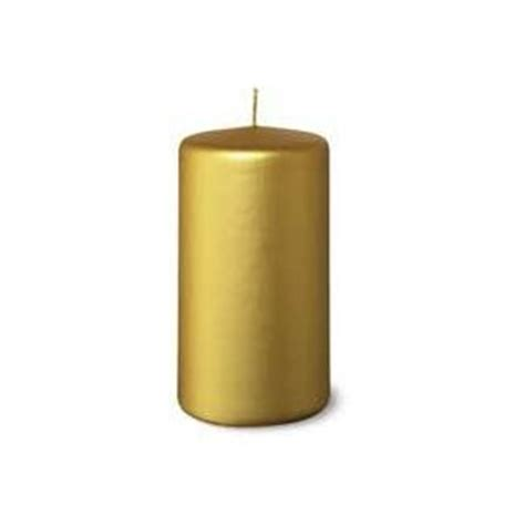 Gold Candle Pillars 2 New Gold Pillar Candles 4 Inch Burn 25 Hours