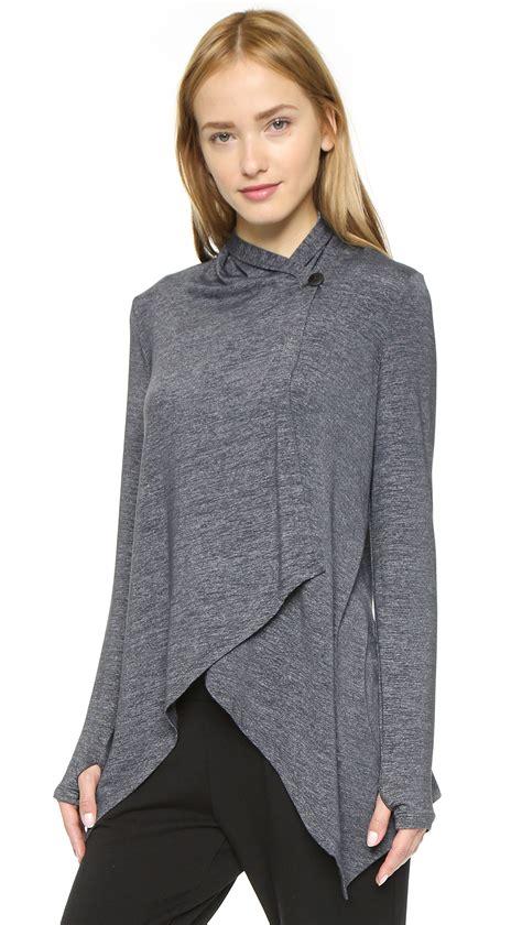 drape front cardigan beyond yoga cloud heather drape front cardigan heather