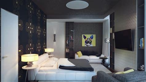black white yellow bedroom attention grabbing bedroom walls