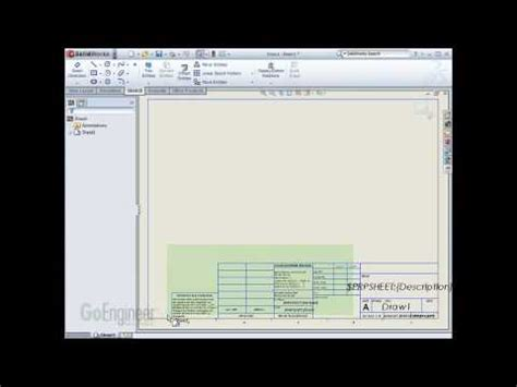 solidworks drawing templates pt 3 of 3 youtube