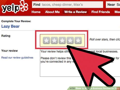 How To Write A Business Review On Yelp 8 Steps With Pictures Yelp Review Template
