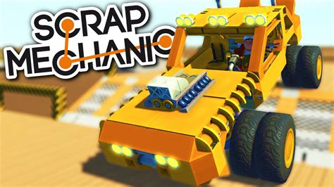 monster truck race track scrap mechanic creations monster truck racing race