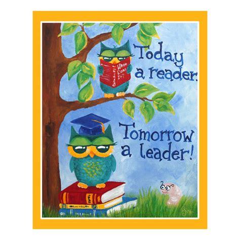 Hourglass Home Decor childrens art print 16x20 today a reader tomorrow a leader