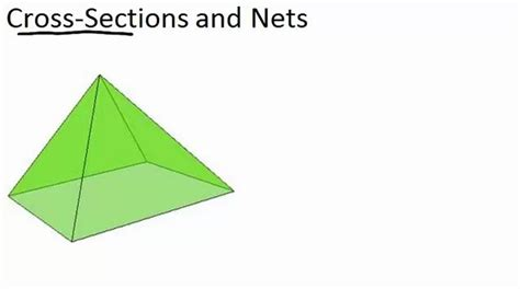 Cross Sections Of Solid Figures by Cross Sections And Nets Ck 12 Foundation