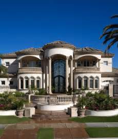 luxury mediterranean home exterior hacienda style ranch homes house plans