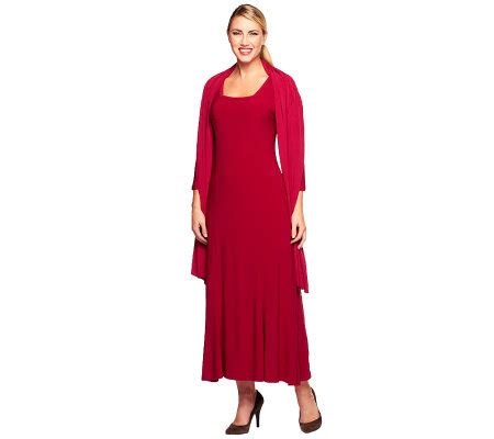 Set Maxi Dress Free Pashmina attitudes by renee square neck maxi dress with shawl page 1 qvc