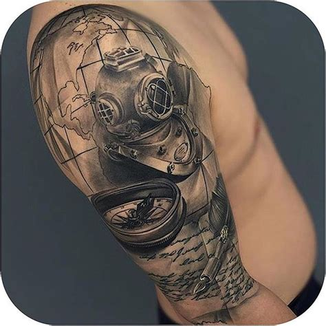 diving helmet tattoo collection of 25 divers helmet and octopus tattoos on