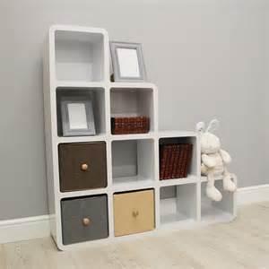 Storage Bookshelves Azil Ten Cube Step Bookcase Contemporary Bookcases