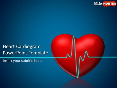 cardiovascular powerpoint template free free animated powerpoint template with cardiogram