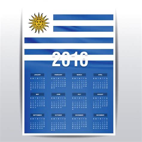 Calendario 2018 Uruguay Calendario De Uruguay De 2016 Descargar Vectores Gratis