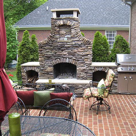 Outdoor Brick Fireplace Kits by Outdoor Fireplace Kits 42 In Pre Engineered Arched