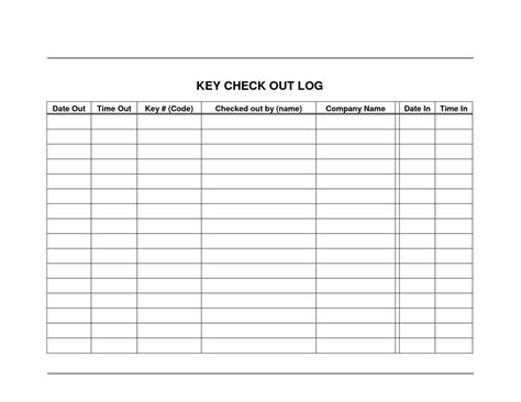 key sign out form template key register template write happy ending