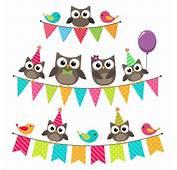 Happy Birthday Card And Cute Owls Vector 02  GooLoc