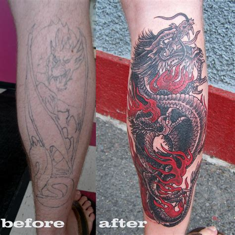 tattoo cover up dragon dragon cover up tattoo picture