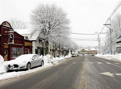downtown ogunquit maine blanketed in snow ogunquit barometer