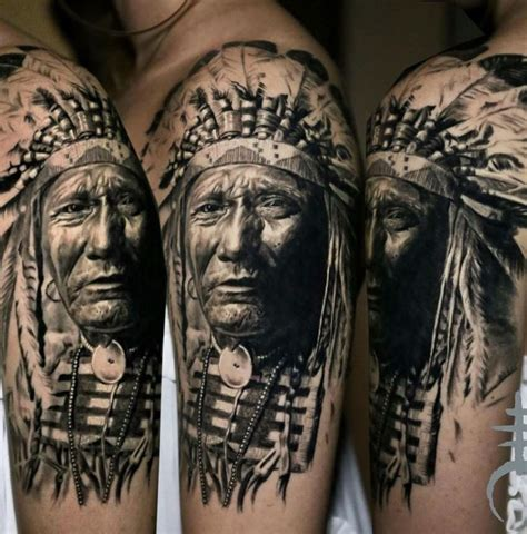 Native American Chief Tattoo Inkstylemag Tattoos Of Indian Chiefs 2