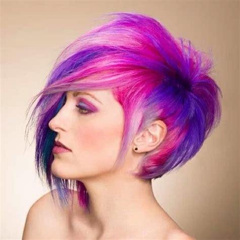 asymm bob with Pravana color   Hair   Pinterest