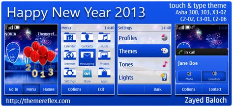 nokia 5233 new year themes happy new year 2013 theme for nokia series 40 themereflex