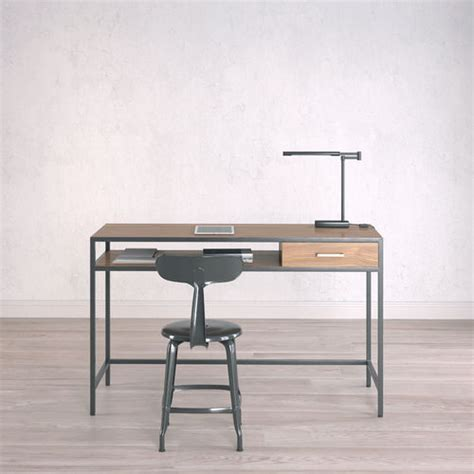 Small Working Desk Work Desk Industrial Small 3d Model Cgtrader