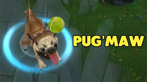 pug lol lol pug maw kog maw doggo skin league of legends