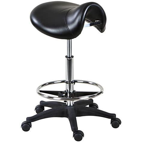 new black hydraulic saddle seat stool footrest st 14 ebay