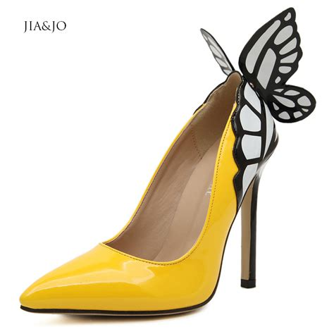 Murano Sandal Heels 5 Cm Black size 35 40 yellow 11 5cm high heel butterfly heels wedding shoes black leather pointed toe