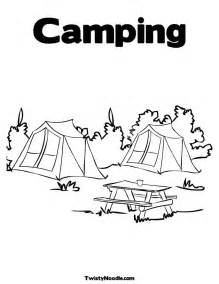 pics photos coloring camping img pictures