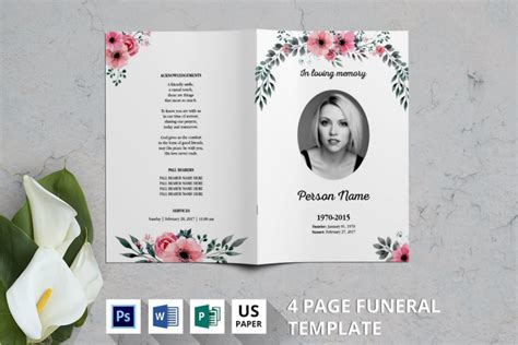 57 Funeral Program Templates Free Word Pdf Psd Doc Sles Funeral Program Template Docs