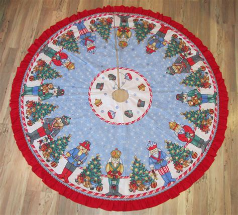 70 inch christmas tree skirt nutcracker solider handmade fabric tree skirt 63 quot diameter ebay