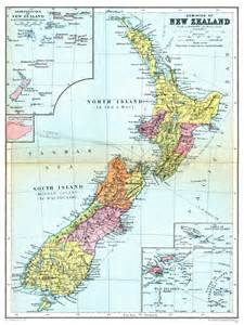 geography political map of new zealand