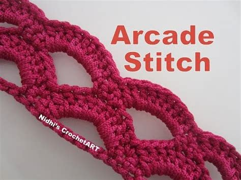 crochet patterns free youtube how to crochet arcade stitch tutorial youtube