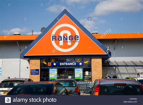the range store the range shop entrance sign suffolk retail park ipswich stock photo royalty free image