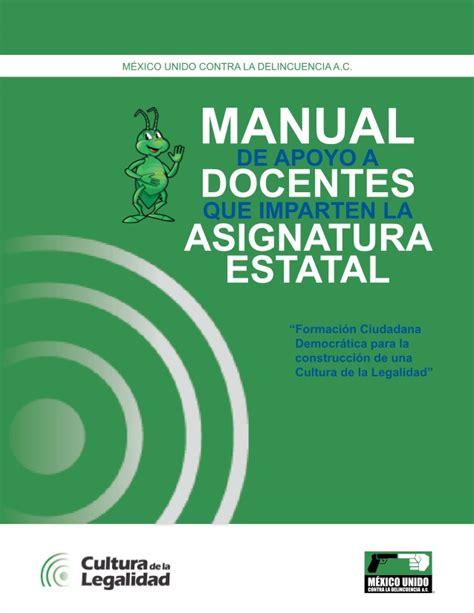 libro de coahuila 1 secundaria manual de apoyo a docentes asignatura estatal