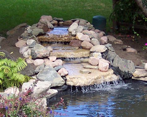 diy pool waterfall build a backyard pond and waterfall home design garden