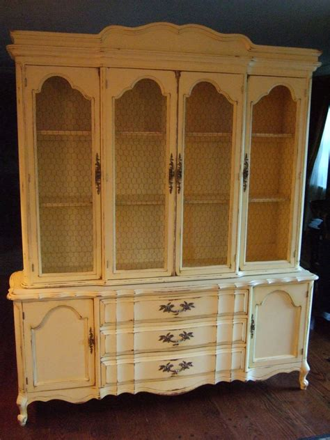 Country Hutch Large Country Hutch In A Distressed Country