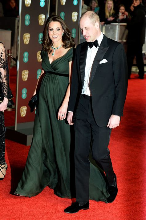 prince william and kate middleton at the bafta awards 2018 why kate middleton ditched the time s up black dress code