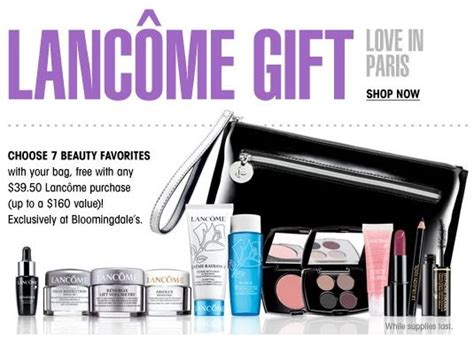An Awesome Gift With Purchase From Lancome At Nordstrom by And Gardens Lancome Estee Lauder Gift Time
