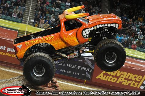 monster truck jam greensboro el toro loco monster truck 2013 www pixshark com