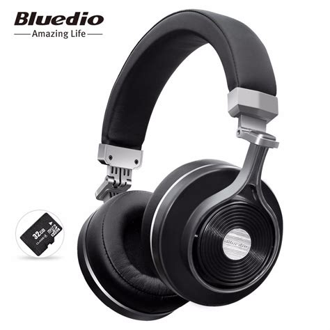 Promo Bluedio T3 Wireless Bluetooth Headphone Gold aliexpress buy bluedio t3 plus wireless bluetooth headphones wireless headset with mic