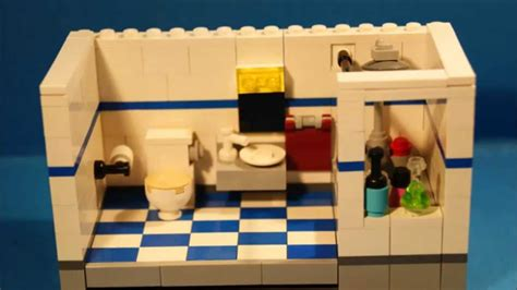 lego bathroom tutorial lego bathroom moc youtube