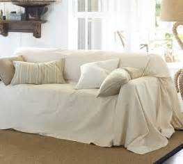 Dropcloth loose fit slipcover twill pottery barn