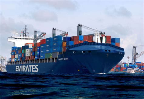 boat shipping line emirates shipping line makes maiden call on new service