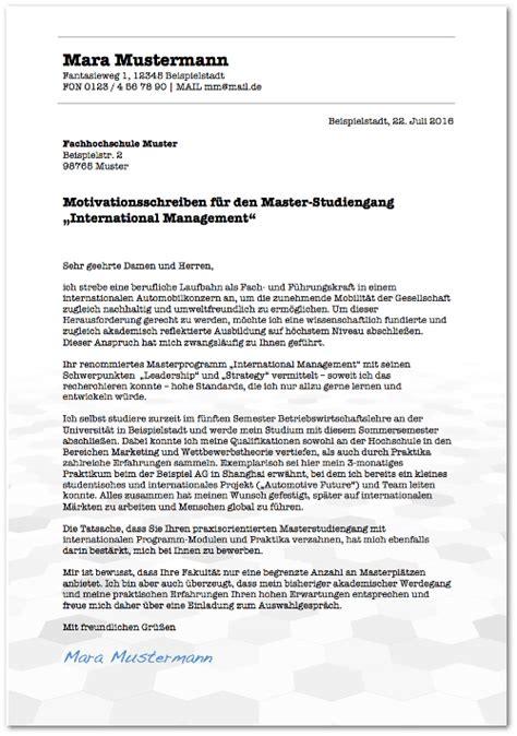 Bewerbung Beispiel Elektrotechnik Motivationsschreiben Master Muster Elektrotechnik