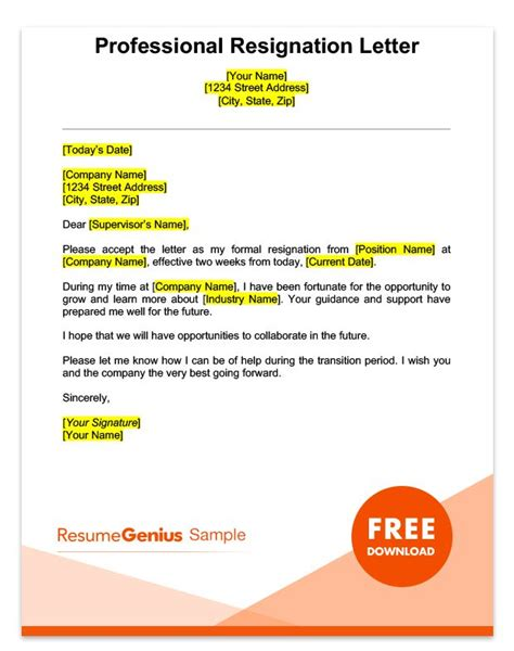 Sample Resume Format To Download by Two Weeks Notice Letter Sample Free Download