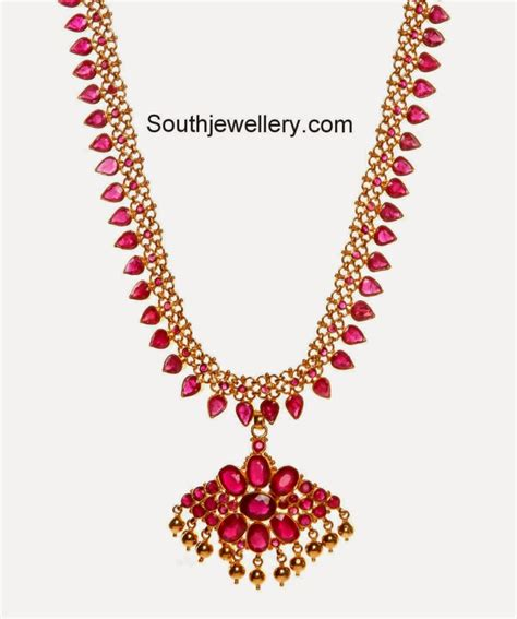 beautiful ruby necklace jewellery designs