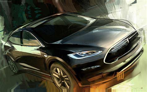 tesla model x 2012 widescreen car wallpaper 03 of
